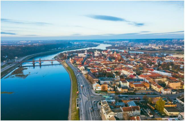 Kaunas is located along the Neman River