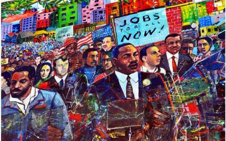 Mural in the Martin Luther King, Jr National Historic Site in Atlanta